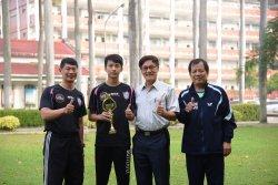 長榮中學桌球隊黃彥誠為臺灣爭光  榮獲團體銀牌及雙打金牌