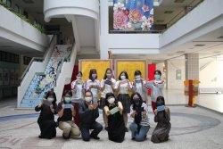 光華流行服飾科防疫口罩套後援隊 用專業體貼父母師長同學