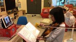 光榮國小試辦視訊教小提琴