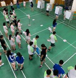 學生會正副會長選舉模擬實際公民投票現場---瀛海學子完投一場漂亮公民教育