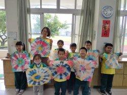 七股學童訪紡織觀光廠 玩手染