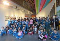 「許願•一個夢想」——深坑學子造訪府都建築文化館,參觀幾米、臺南樹人國小及拉黑子聯展