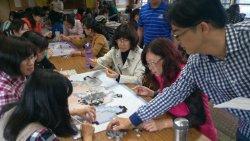 和順國小整建校舍整建 教師動手為新大樓拼貼馬賽克圖案