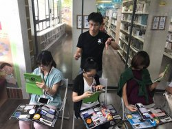 圖書館閱讀推動生力軍至和順國中悠閱館參訪