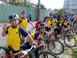樹人小勇士破曉出征、嘉義鐵馬走讀自行樂--四校聯合四季高峰自行車課程