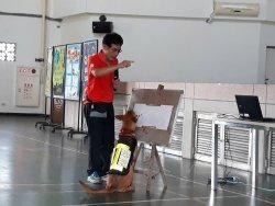 臺南市動保宣導大使「豆哥」、「凱娣」前進和順國中