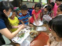 吉貝耍國小--製作艾草粿與獲贈雞腿油飯